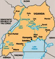Map of Uganda (by courtesy of the ICC)